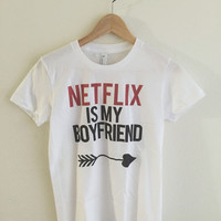 Netflix is my Boyfriend Women's Graphic T Shirt