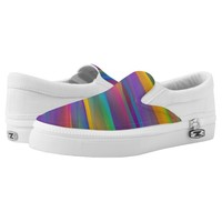 Vibrant Rainbow Psychedelic Slip-On Sneakers