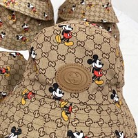 GUCCI & Disney Fashion New More Letter Mouse Print Cap Fisherman Hat