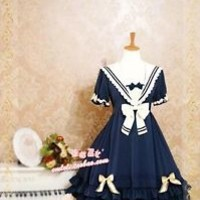 Sailor Lolita Dress OP Japanese Uniform Sweet Classic Cosplay Custom Size NWT