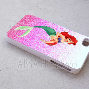 pink ariel little mermaid case sell online for iPhone 4/4s/5/5s/5c/6/6+ case,iPod Touch 5th Case,Samsung Galaxy s3/s4/s5/s6Case, Sony Xperia Z3/4 case, LG G2/G3 case, HTC One M7/M8 case