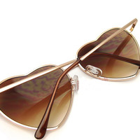 Metal Heart-Shaped Personalized Retro Sunglasses JCAGB
