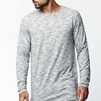 On The Byas Mateo Straight Hem Longline T-Shirt - Mens Shirt - Gray