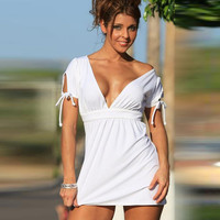 Hot Sale Deep V Beach Slim One Piece Dress [4970292164]