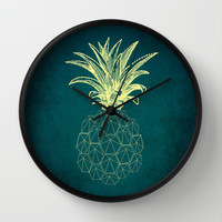 y-hello pineapple Wall Clock by AmDuf
