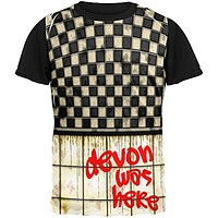 DEVON Was Here Graffiti Adult Black Back T-Shirt