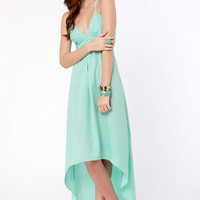 Shock and Thaw Backless Mint Dress
