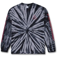 Triple Triangle Tie-Dye Long Sleeve Tee