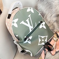 Louis vuitton LV  New fashion monogram print leather book bag backpack bag shoulder bag