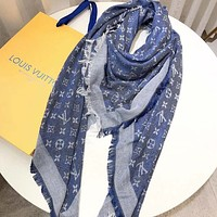 Louis Vuitton LV  Women Silk Scarf Shawl Scarf