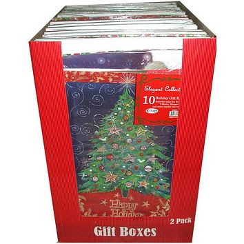 xmas gift boxes - 10 pk - assorted sizes Case of 14