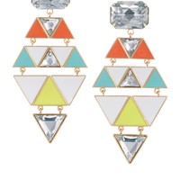 ASOS Enamel Drop Chandelier Earring
