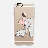 Cute Casetify iPhone 7 Case | Mom and Baby Pink Elephant Love Design by Marblous (iPhone 6s 6 Plus SE 5s 5c & more)