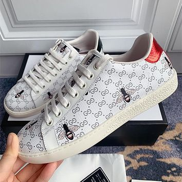 GUCCI G family small white shoes