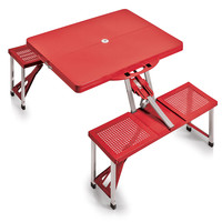 Folding Table With Seats Sport - Red W/Football