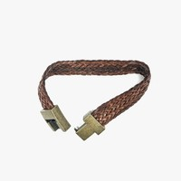 Archives | Genuine Leather Woven Brass Buckle Bracelet