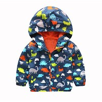 Kids Waterproof Windbreak Rain Coat Jacket