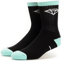 Diamond Supply Co 3 Pack Black & Diamond Blue Crew Socks