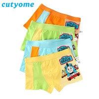 2-15 Years Boys Underwear Kids Panties Breathable Cotton Children Briefs Boxers Toddler Thomas Teenagers Panty Shorts Clothing