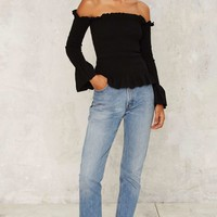 Ruffle Off Together Top