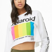 Polaroid Logo Crop Top