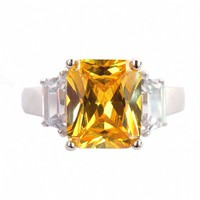 Kim's Canary Inspired Engagement Ring