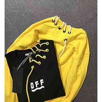 MONCLER x OFF-WHITE Letter and Print Long Couples Sleeve Sweater I-A-XYCL