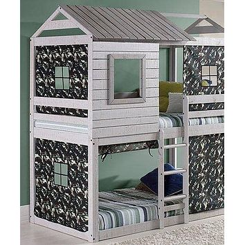 Jackson Fort Bunk Bed with Camo Tent