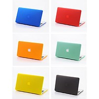 """Slim Crystal See-Thru Colored Case Cover For Macbook Air 11"""" 13"""" Macbook Pro 13"""" 15"""""""