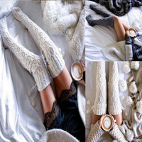 New  Arrival Fashion Sexy Style Winter Warm Knit Socks [9430009348]