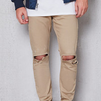 PacSun Skinny Ripped Tiger Eyes Stretch Jeans at PacSun.com