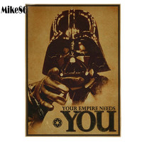 Star Wars Poster Retro art Wall home Decoration 30X42 Vintage style