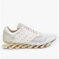 adidas by Rick Owens Men's White Springblade Low Sneakers