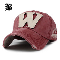 Cotton Embroidery Letter W Baseball Cap Snapback Caps Bone Sports Hat Distressed Wearing Style Outdoor Hat For Men Custom Hats