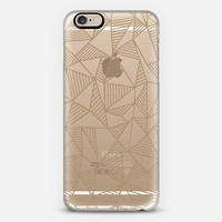 Abstract Lines Brown Transparent iPhone 6 case by Project M | Casetify