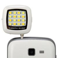 Fashion Built-in 16 LED FLASH Lamp for iPhone SE 6 6S Plus Galaxy Note 5 S6 Camera Phone Multiple Photography SYNC fill-in light