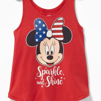 """Disney© Minnie Mouse """"Sparkle and Shine"""" Tank for Toddler Girls