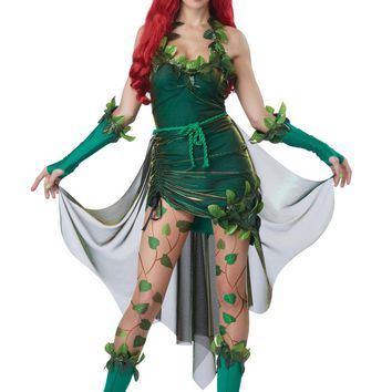 Women's Batman Poison Ivy Lethal Beauty Costume Halloween Cosplay Fancy Dress