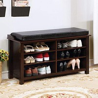 Tara Shoe Rack Bench With 6 Shelves By Casagear Home