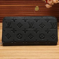 Louis Vuitton LV Women Shopping Fashion Leather Zipper Wallet Purse