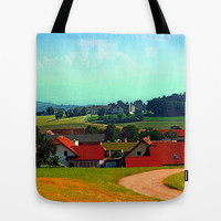 Peaceful farmland on a sunny afternoon Tote Bag by Patrick Jobst