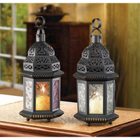 CLEAR GLASS MOROCCAN LATERN