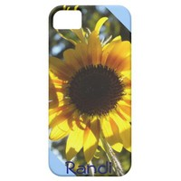 Sunny Sunflower iPhone 5 case *personalize* from Zazzle.com