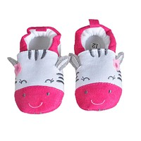 Soft Cartoon Baby Boys Girls Infant Shoes Slippers 0-6 6-12 First Walkers Cotton Skid-Proof Kids Baby Shoes