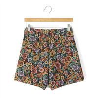Women's Fashion Floral Print Slim Shorts [4919627908]