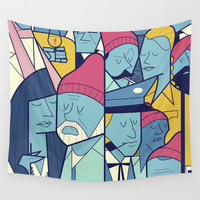 The Life Acquatic with Steve Zissou Wall Tapestry by Ale Giorgini