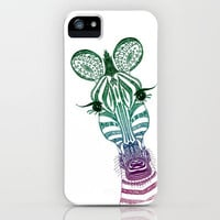 ♥ ♥ ♥     ZOE ZEBRA   ♥ ♥ ♥   iPhone Case by M✿nika  Strigel | Society6 for iphone 5 + 4 S + 4 + 3 GS + 3 G + ipod_touc