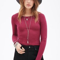 Raglan Long-Sleeve Top