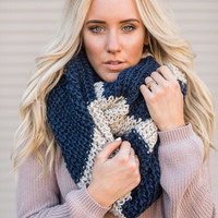 Rugby Knitted Chunky Scarf