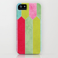 Patchwork Picket Fence iPhone & iPod Case by micklyn